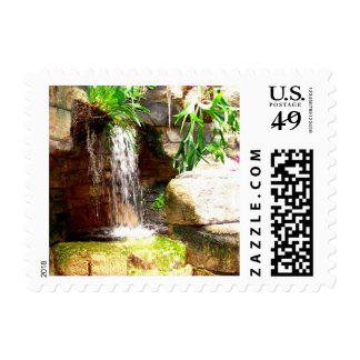 Small Waterfall In San Antonio Zoo Stamps