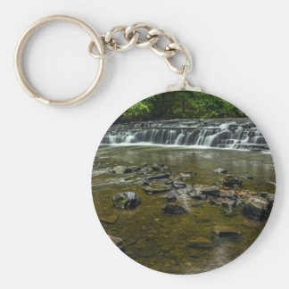 Small Waterfall Basic Round Button Keychain