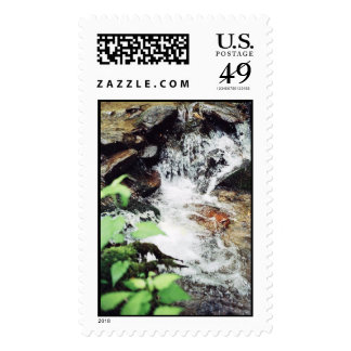 Small waterfall postage stamps
