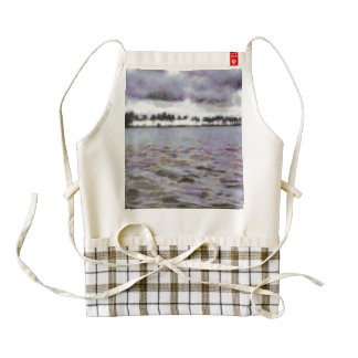 Small waves and trees zazzle HEART apron
