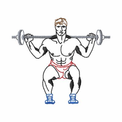 Small Weightlifter Outline