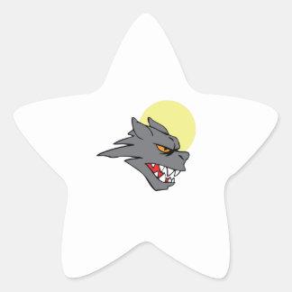 SMALL WEREWOLF STAR STICKER