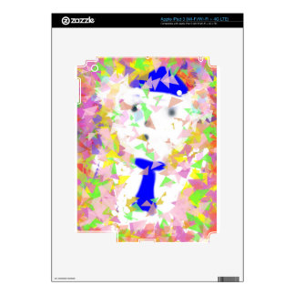 Small white bear toy is happy on  birthday party skin for iPad 3