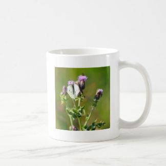 Small White Butterfly Mug