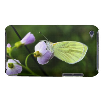 Small White Butterfly on Cuckoo Flower iPod Case-Mate Case