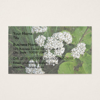 Small white flowers and buds business card