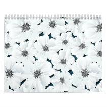 Small white flowers calendar