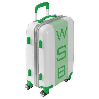 SMALL White + Light Green Monogram Carry On Bag