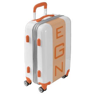 SMALL White + Light Orange Monogram Carry On Bag Luggage