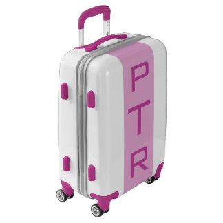 SMALL White + Light Purple Monogram Carry On Bag Luggage
