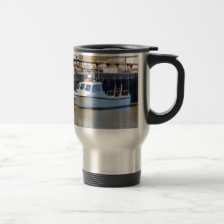 Small White Motorboat Coffee Mugs