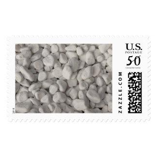 Small White Pebbles Postage