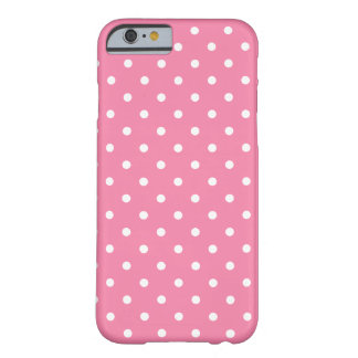 Small White Polka Dots on hot pink Barely There iPhone 6 Case
