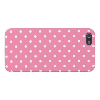 Small White Polka Dots on hot pink Cover For iPhone SE/5/5s
