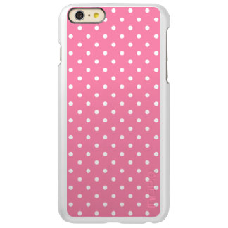 Small White Polka Dots on hot pink Incipio Feather Shine iPhone 6 Plus Case