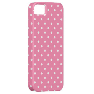 Small White Polka Dots on hot pink iPhone SE/5/5s Case