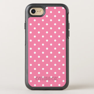 Small White Polka Dots On Hot Pink OtterBox Symmetry iPhone 8/7 Case