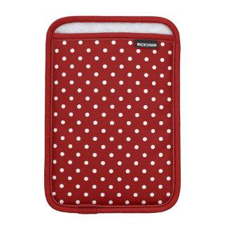 Small White Polka dots red background iPad Mini Sleeve
