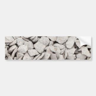 Small White Stone Cover Bumper Sticker