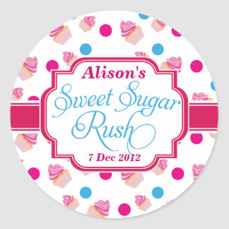 Small White Sweet Sugar Rush Cute Cupcake Stickers