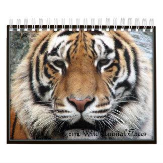 Small Wild Animal Faces Calendar 2012