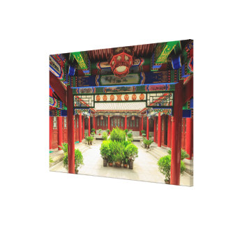 Small Wild Goose Temple, China Canvas Print