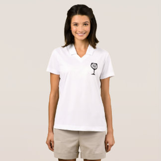 Small Wine Glass on Front-Large WINE Logo on Back Polo Shirt