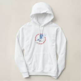 Small Winged Shoe Embroidered Hoodie