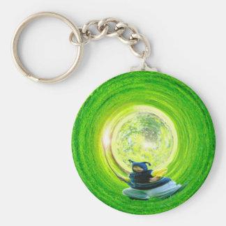 Small Wizard Basic Round Button Keychain