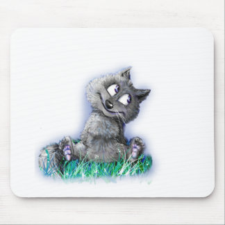 Small wolf mouse pad