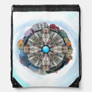 Small World In The Clouds Drawstring Backpack