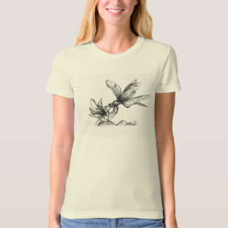 'Small World' Water Fairy & Dragonfly Org T-shirt