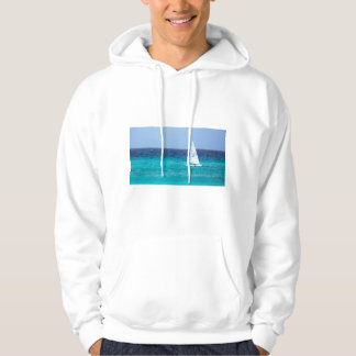 Small Yacht at Sea Hoodie