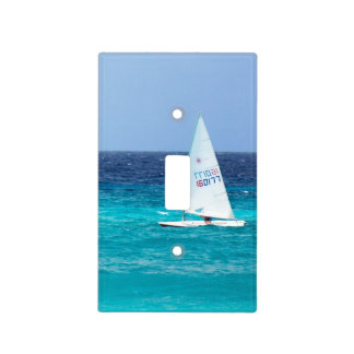 Small Yacht at Sea Light Switch Cover
