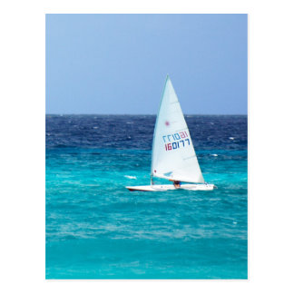 Small Yacht at Sea Postcard
