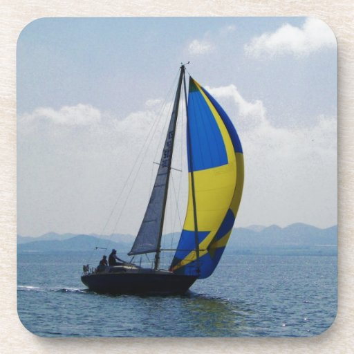 Small yacht big spinnaker. beverage coasters