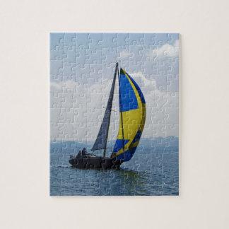 Small yacht big spinnaker. jigsaw puzzle