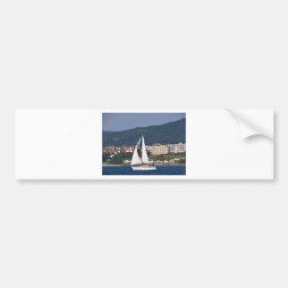 Small Yacht Bumper Sticker
