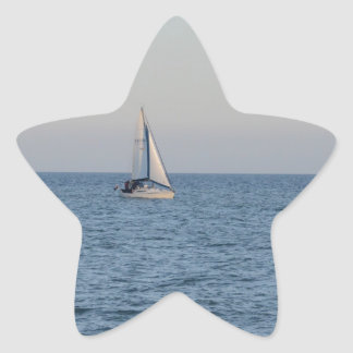 Small Yacht Offshore. Star Sticker