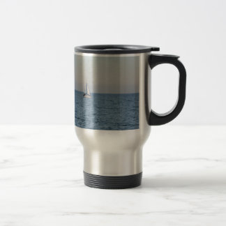 Small Yacht Offshore. Travel Mug
