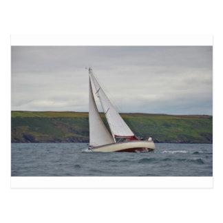 Small Yacht Sailing Hard Postcard