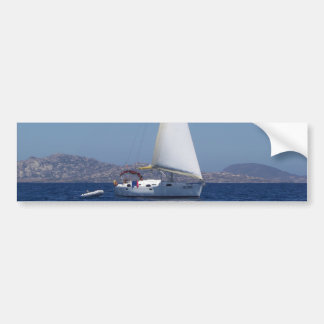 Small Yacht Under Genoa Bumper Sticker