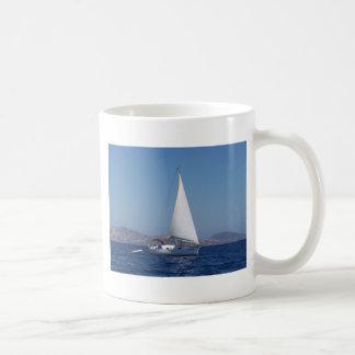 Small Yacht Under Genoa Coffee Mug