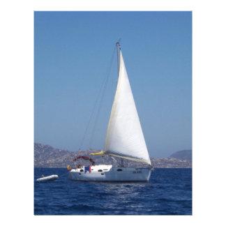 Small Yacht Under Genoa Custom Letterhead