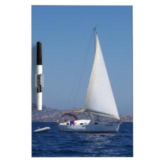 Small Yacht Under Genoa Dry-Erase Whiteboard