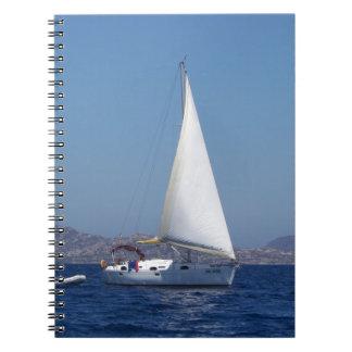 Small Yacht Under Genoa Notebook