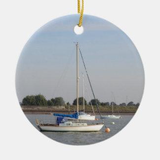 Small Yachts Ceramic Ornament