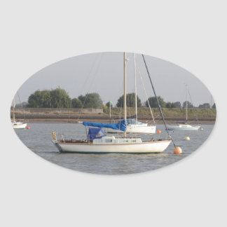 Small Yachts Oval Sticker