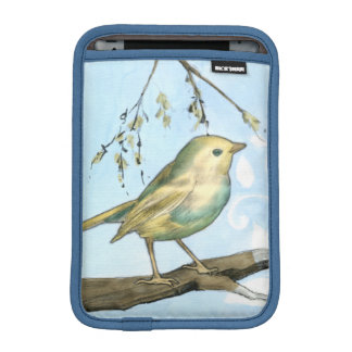 Small Yellow Bird Perched on a Branch Looking up Sleeve For iPad Mini