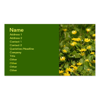 Small-yellow-flowers-in-grass1957 NATURE FLOWERS Y Double-Sided Standard Business Cards (Pack Of 100)